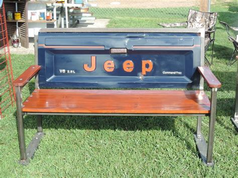 Wooden jeep bench Image
