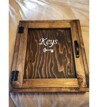 Wooden Key Box Cabinet Plans