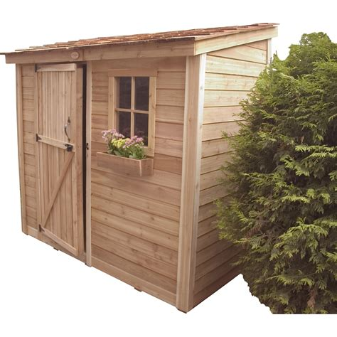 Wooden lean to shed Image