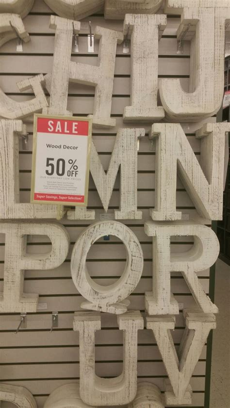 Wooden letters hobby lobby Image