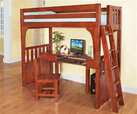 Wooden loft bed Image