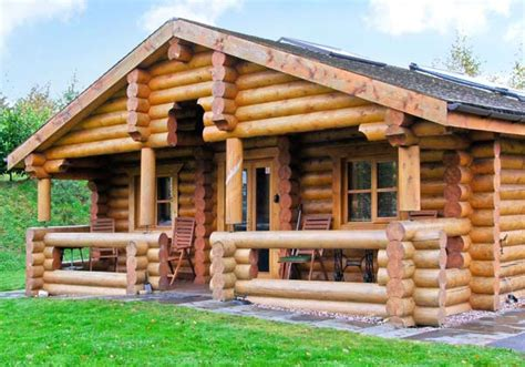 Wooden log cabins holidays Image