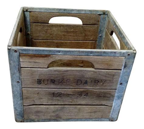 Wooden milk crate Image