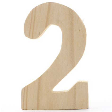 Wooden number 2 Image