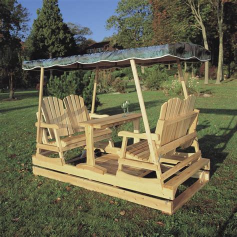 Wooden outdoor glider Image