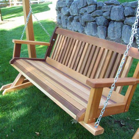 Wooden outdoor swing Image