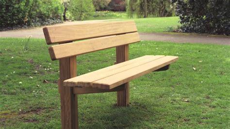 Wooden park bench plans Image
