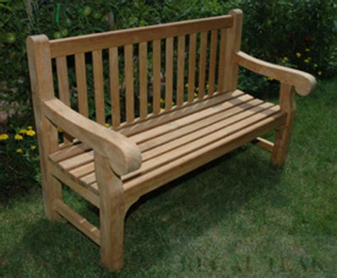 Wooden park benches Image