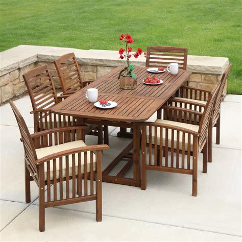 Wooden patio set Image