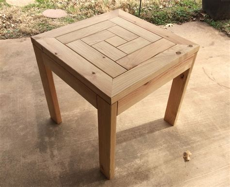 Wooden Patio Side Table Plans