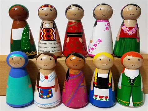 Wooden peg dolls Image