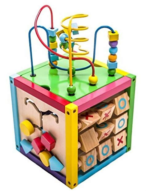 Wooden Play Cube Activity Center Learning Toy