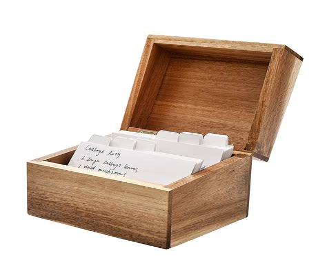Wooden recipe box dividers Image