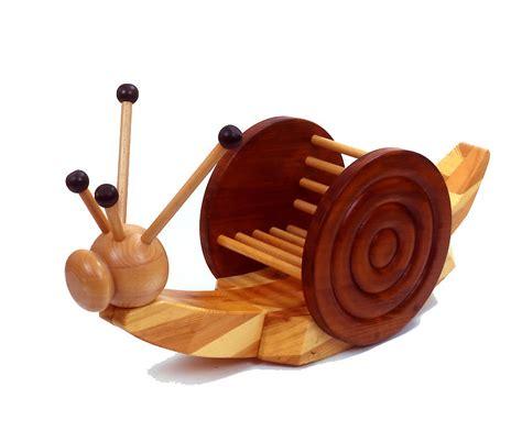Wooden Rocking Snail