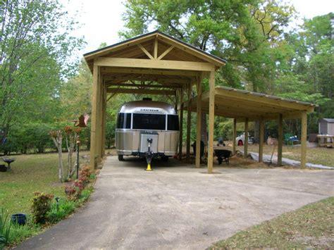 Wooden rv carport plans Image