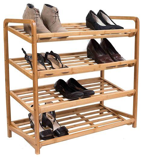 Wooden shoe rack Image