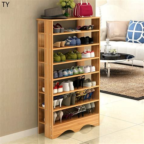 Wooden shoe rack samples Image