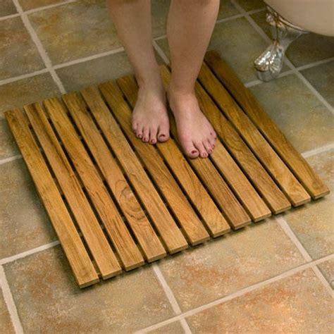 Wooden shower mat Image