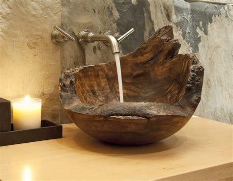 Wooden sink bowl Image