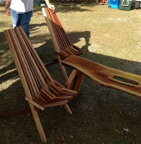 Wooden slat chairs Image