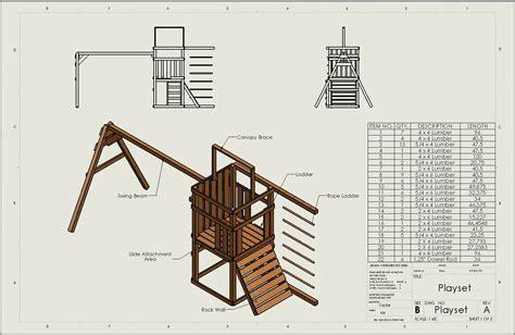Wooden swing set blueprints for free Image