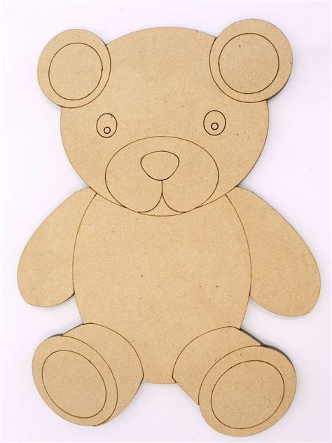 Wooden teddy bear shapes Image