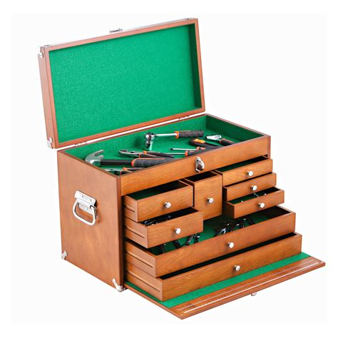 Wooden tool chest Image