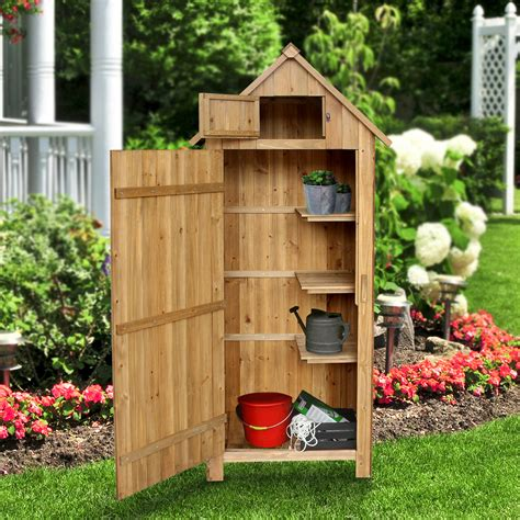 Wooden tool shed Image