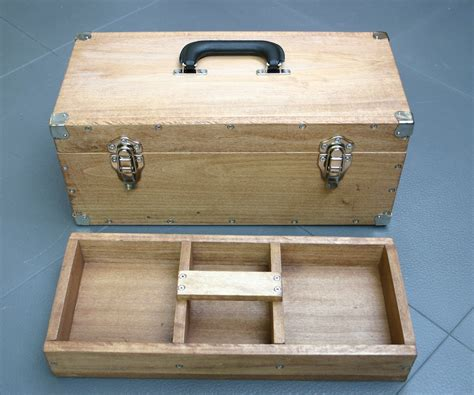 Wooden toolbox Image