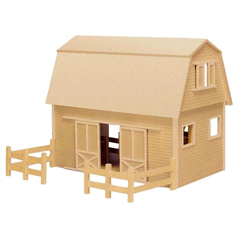 Wooden Toy Houses And Barn Kits Image