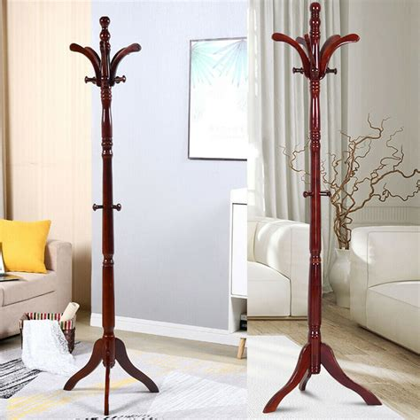 Wooden tree hat stand Image