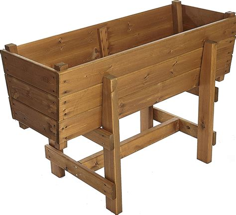 Wooden vegetable planters on legs Image