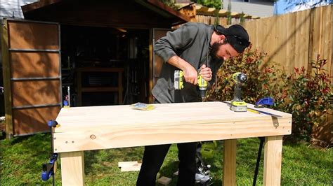 Wooden work bench youtube Image