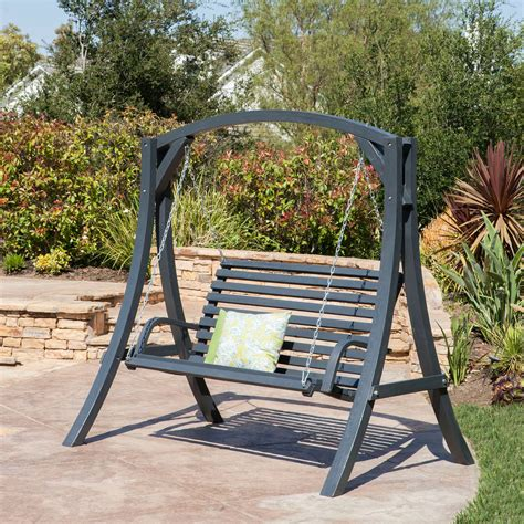 Wooden yard swing Image