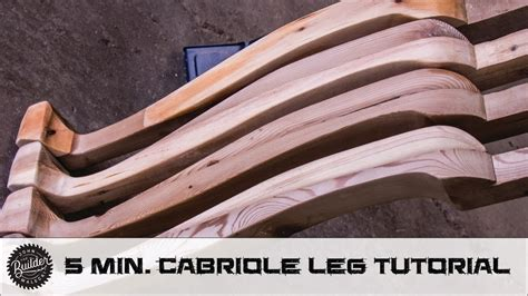 Woodworking curved cabriole style dining table leg walkthrough Image