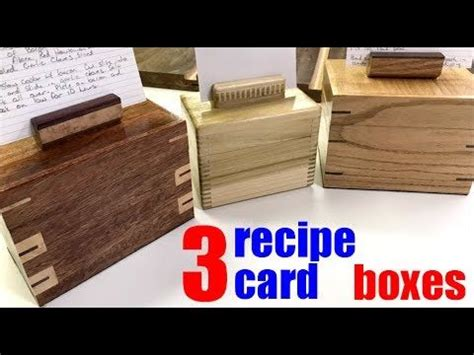 Woodworking how to build 3 different kinds of recipe card boxes Image
