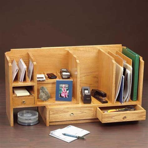 Woodworking plans desktop organizer Image