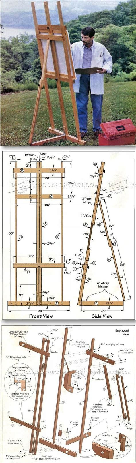 Woodworking plans for artists easel Image