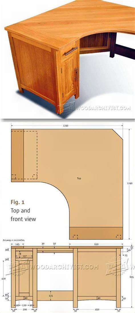 Woodworking plans for corner computer desk Image