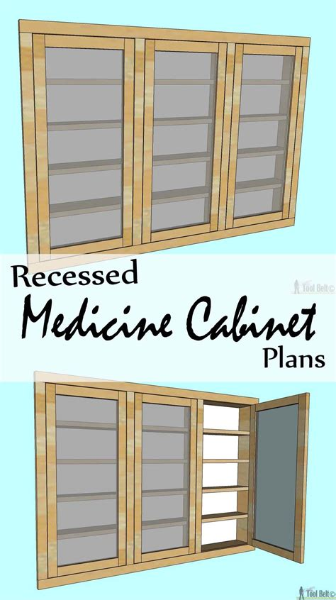 Woodworking plans for recessed medicine cabinet Image