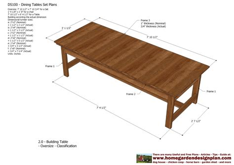 Woodworking plans free dining table Image