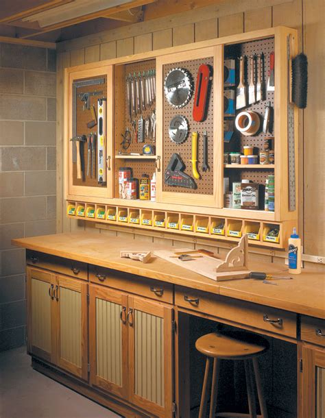 Woodworking shop cabinets plans Image
