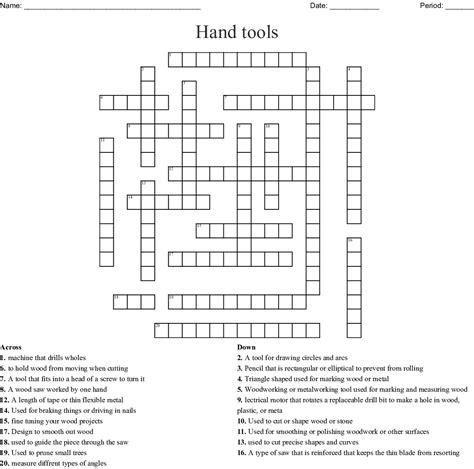 Woodworking tools crossword Image