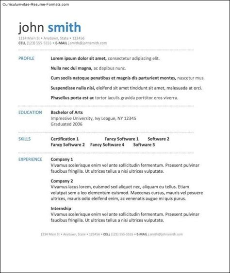 Word 2003 Resume Templates Free Good Work Certificate Letter