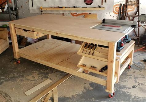 Workbench Integrated Table Saw Plans
