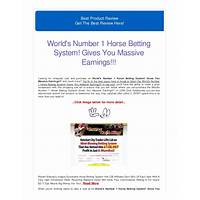 World's number 1 horse betting system! gives you massive earnings!!! programs