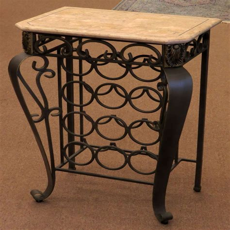 Wrought iron tabletop wine racks Image
