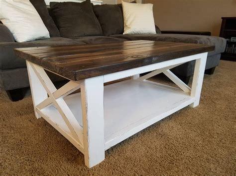 X Coffee Table Rustic Image