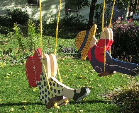 Yard ornaments made from wood Image