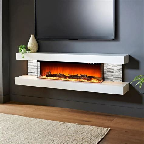 Yawen Wall Mounted Electric Fireplace